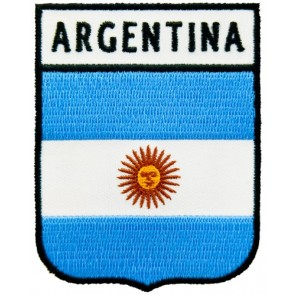 Argentina Flag Shield Patch, South America Patches