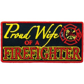 Proud Wife of A Firefighter Patch, Firefighter Patches