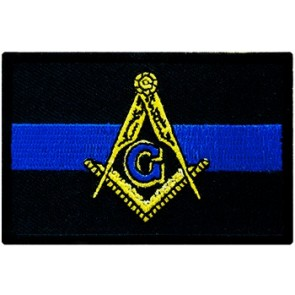 Thin Blue Line Masonic Patch, Law Enforcement Patches
