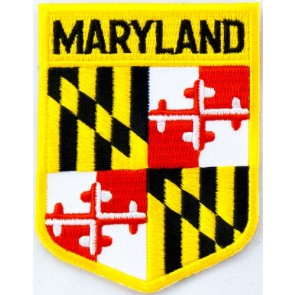 Maryland State Flag Shield Patch, 50 State Flag Patches