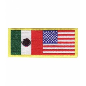 American Flag Mexican Flag Patch, Mexico Patches