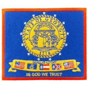 Georgia State Flag Patch, 50 State Flag Patches