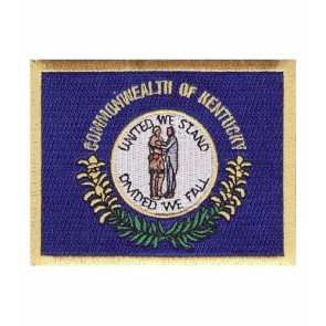 Kentucky State Flag Patch, 50 State Flag Patches