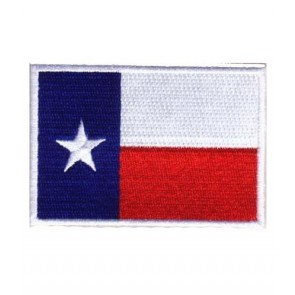 Texas Flag White Border Patch, 50 State Flag Patches