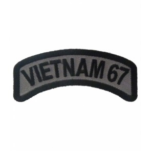 Vietnam 67 Rocker Patch, Vietnam Veteran Patches