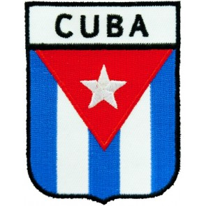 Cuba Flag Shield Patch, Country Flag Patches