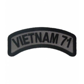 Vietnam 71 Rocker Patch, Vietnam Veteran Patches