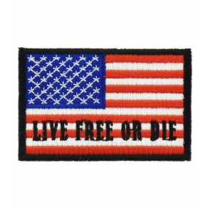 Live Free Or Die American Flag Patch, U.S. Flag Patches