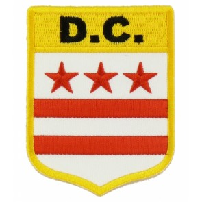 Washington DC Flag Shield, District of Columbia Patches