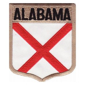 Alabama State Flag Shield Patch, 50 State Flag Patches