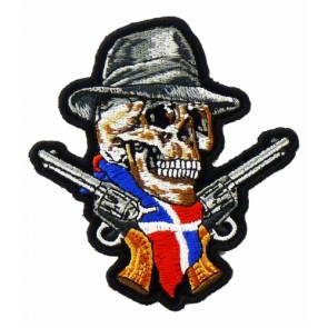 Dominican Republic Skull & Guns Patch, Skull Patches