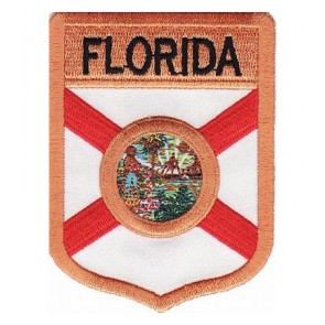 Florida State Flag Shield Patch, 50 State Flag Patches