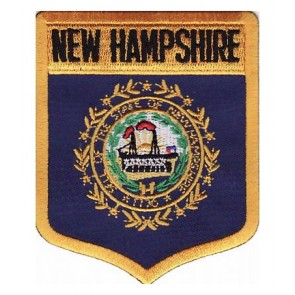 New Hampshire State Flag Shield Patch, 50 State Flag Patches