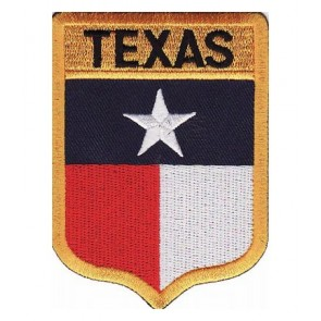 Texas State Flag Shield Patch, 50 State Flag Patches