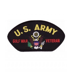U.S. Army Gulf War Veteran Hat Patch, Military Patches