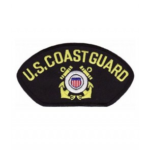 U.S. Coast Guard Hat Patch, Military Cap Patches