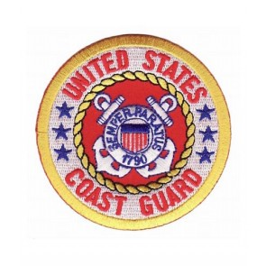 Coast Guard Logo Round Patch, Military Patches