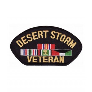 Desert Storm Veteran Hat Patch, Military Cap Patches