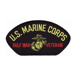 Marines Gulf War Veteran Hat Patch, Military Cap Patches
