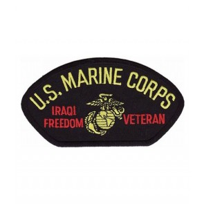 Marines Iraq Veteran Hat Patch, Military Cap Patches