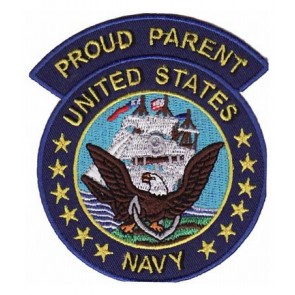 Navy Proud Parent Patch, U.S. Navy Military Patches