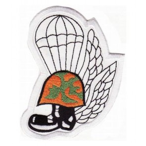 Fallen Paratrooper Helmet & Boot Patch, Military Patches