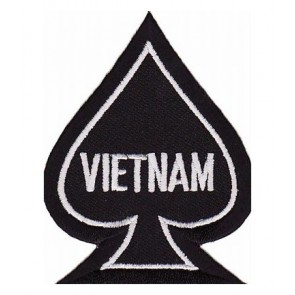 Vietnam Black Spade Patch, Vietnam Veteran Patches