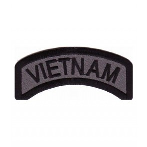 Vietnam Grey Rocker Tab Patch, Vietnam Veteran Patches