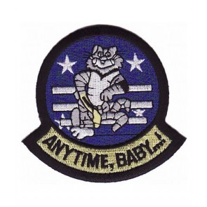 Navy F-14 Tomcat Anytime Baby Patch, U.S. Navy Patches