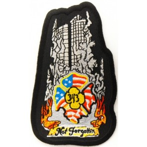 9-11 Twin Towers 343 Not Forgotten Patch, Patriotic Patches