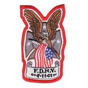 FDNY September 11 Eagle Patch, Patriotic Patches
