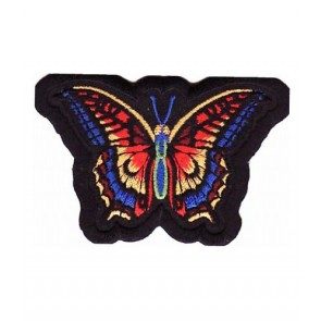 Rainbow & Black Butterfly Patch, Ladies Biker Patches