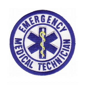 Emergency Medical Technician Logo Patch, Medical Patches
