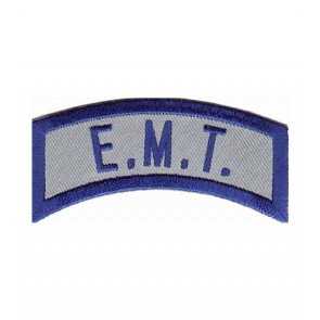 EMT Blue Uniform Rocker Patch, Medical Patches