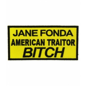 Jane Fonda American Traitor Yellow Patch, Military Patches