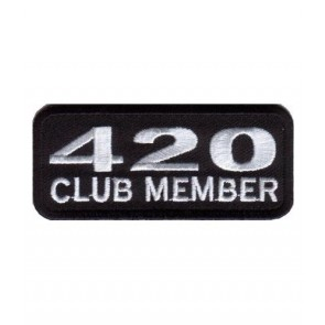 420 Club Member Biker Patch, Marijuana Patches