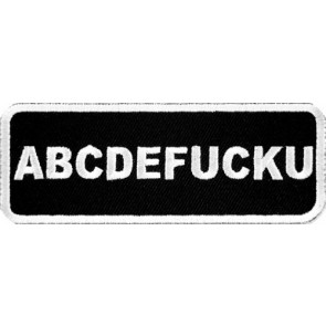 ABCDEFUCKU Patch, Vulgar Sayings Patches