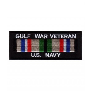 Navy Gulf War Vet Service Ribbon Patch, Military Patches