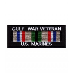 Marines Gulf War Vet Service Ribbon Patch, Military Patches