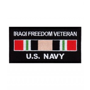 Navy Iraq Veteran Service Ribbon Patch, Military Patches