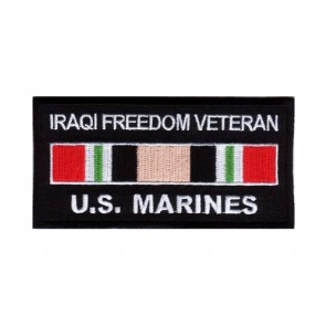 Marines Iraq Veteran Service Ribbon Patch, Military Patches