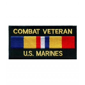 Marines Combat Vet Service Ribbon Patch, Military Patches