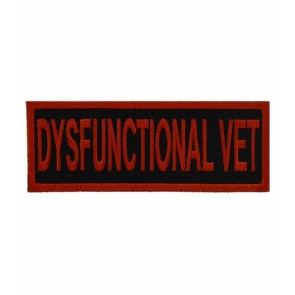 Dysfunctional Vet Patch, Military Veteran Patches