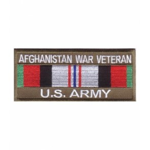 Army Afghanistan War Vet Service Ribbon, Military Patches