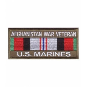 Marines Afghanistan War Vet Service Ribbon Patches