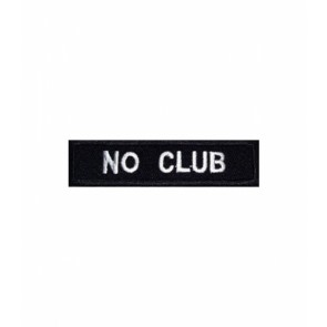 No Club Black & White Patch, Biker Patches