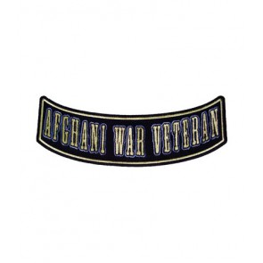 Afghani War Veteran Rocker Patch, Military Patches