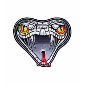Cobra Snake Head Patch, Snake Patches