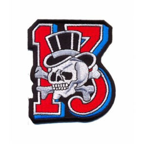 13 Skull & Crossbones Top Hat Patch, Skull Patches