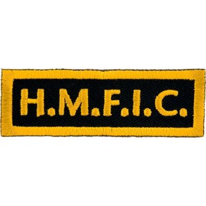 HMFIC Yellow Patch, Biker Club Rank Patches